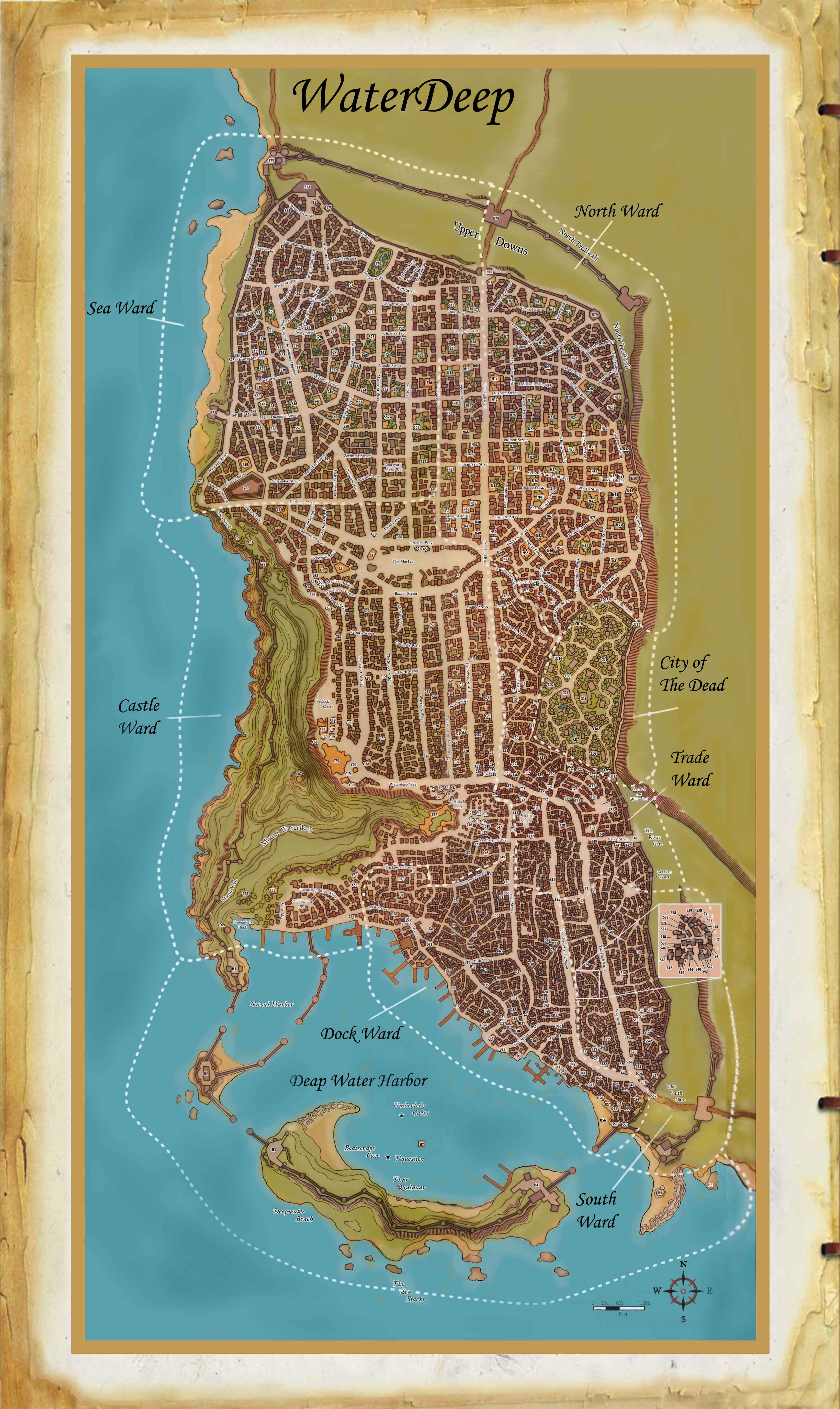does anyone have a good printable map of waterdeep dnd